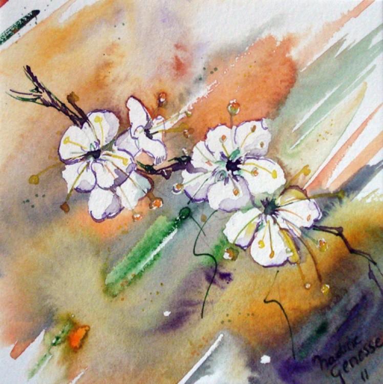 Nadine Genesse - Fleurs blanches